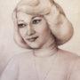 Автопортрет, 1980, папір, олівець, 35х47