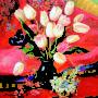 Весняні квіти, п.о,70х60 2010