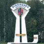 В'їзний знак в Винницьку обл., бетон, метал, 2003 Попенко О.С.