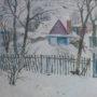 ЗИМОНЬКА-2005 р.в.-картон,олія-57,5х63,5 см