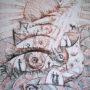 Кафарский-Кріз час-папір тонований.змішана техника.60х40 см.2012 р.
