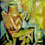 По мотивам трипільської пластики, 2006р, полотно, олія, акрил, 40х30